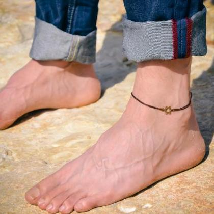 Anklet for men, men's anklet with b..